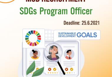 Tuyển dụng: SDGs Program Officer 2021